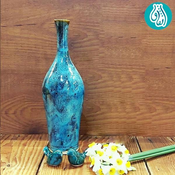 گلدان سفالی لعاب دار کد 9