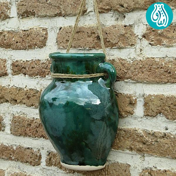 گلدان دیواری ساده سفال